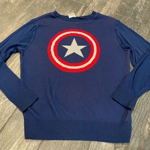 GENTLY USED MARVEL CAPTAIN AMERICA SWEATER